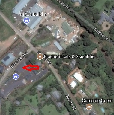map to BSC Laboratory, Hilton, South Africa